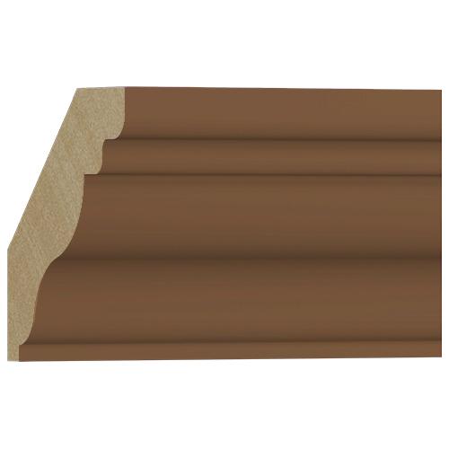 10%割引アウトレット モールディング 木製/表面シートラッピング 廻り縁 ブラウンオーク色 108×106×3600mm [NRWR457F]