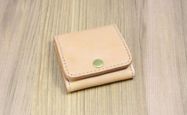 栃木レザー 小銭入れ ボックス型 BOX【オーダーメイド お好みの革色糸色選べます】