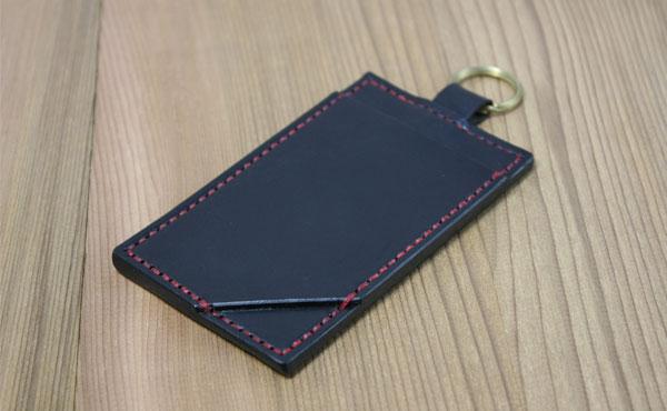 栃木レザー パスケース 真鍮無垢 二重リング(定期券入れ)【オーダーメイド お好みの革色糸色選べます】