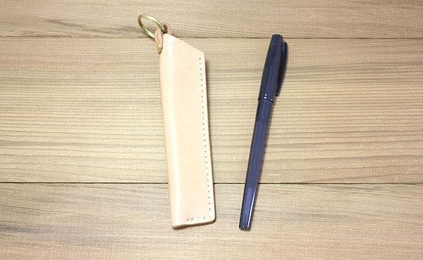 栃木レザー ペンホルダー ペンケース 1本【オーダーメイド お好みの革色糸色選べます】