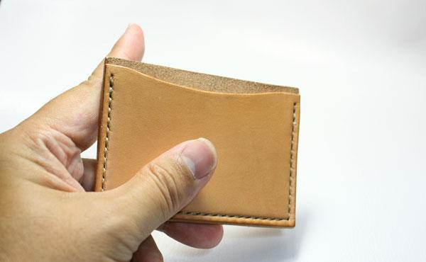 栃木レザー カードカバー(1枚用横型)【オーダーメイド お好みの革色糸色選べます】【ゆうパケット対応】