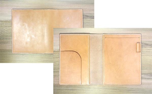 栃木レザー ノートカバー ノートパッド B5サイズ【オーダーメイド お好みの革色糸色選べます】送料無料