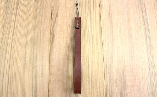 栃木レザー ケータイ ストラップ Lサイズ ロング【オーダーメイド お好みの革色糸色選べます】【ゆうパケット対応】
