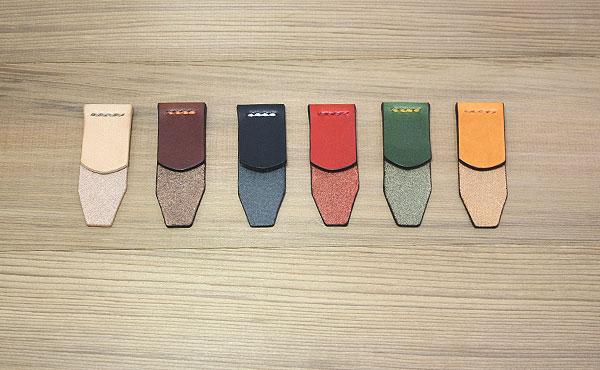 栃木レザークリップ式ブックマークMサイズ【お好みの革色選べます】しおり 栞【ゆうパケット対応】