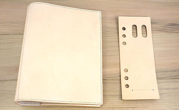 栃木レザー システム手帳バインダー用ペンホルダー&クリップホルダー A5サイズ【オーダーメイド お好みの革色選べます】
