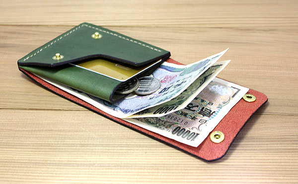 栃木レザー ハーフウォレット 折り財布B【オーダーメイド お好みの革色糸色選べます】【送料無料】