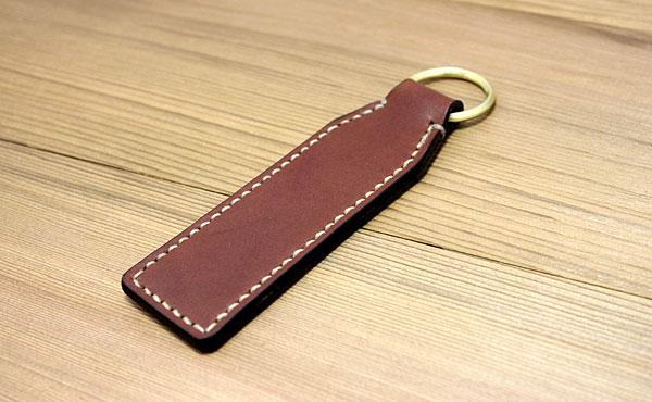 栃木レザー キーホルダー 真鍮無垢【オーダーメイド お好みの革色糸色選べます】【ゆうパケット対応】