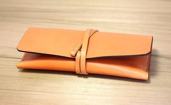栃木レザー ペンケース【オーダーメイド お好みの革色糸色選べます】