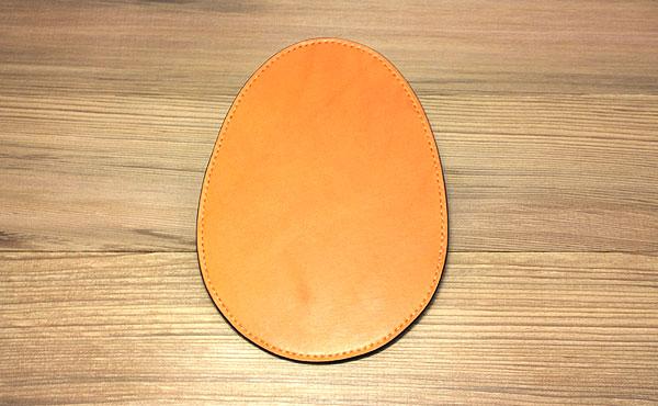 栃木レザー マウスパッド 卵形【オーダーメイド お好みの革色糸色選べます】