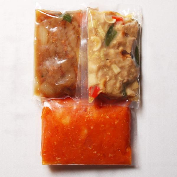 【宅配】外崎シェフの中国料理3種×各1パック(3名様用)