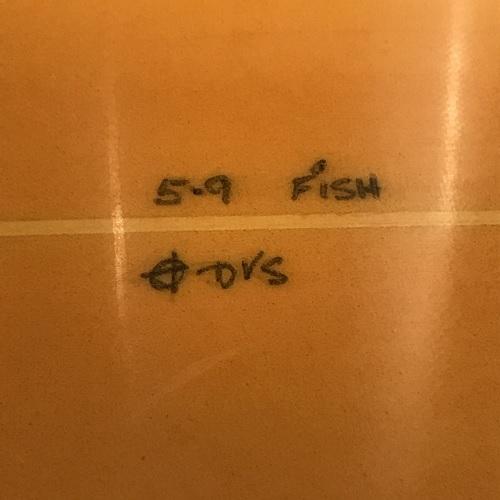 【Dick Van Straalen】ショートボード フィッシュ 5'9