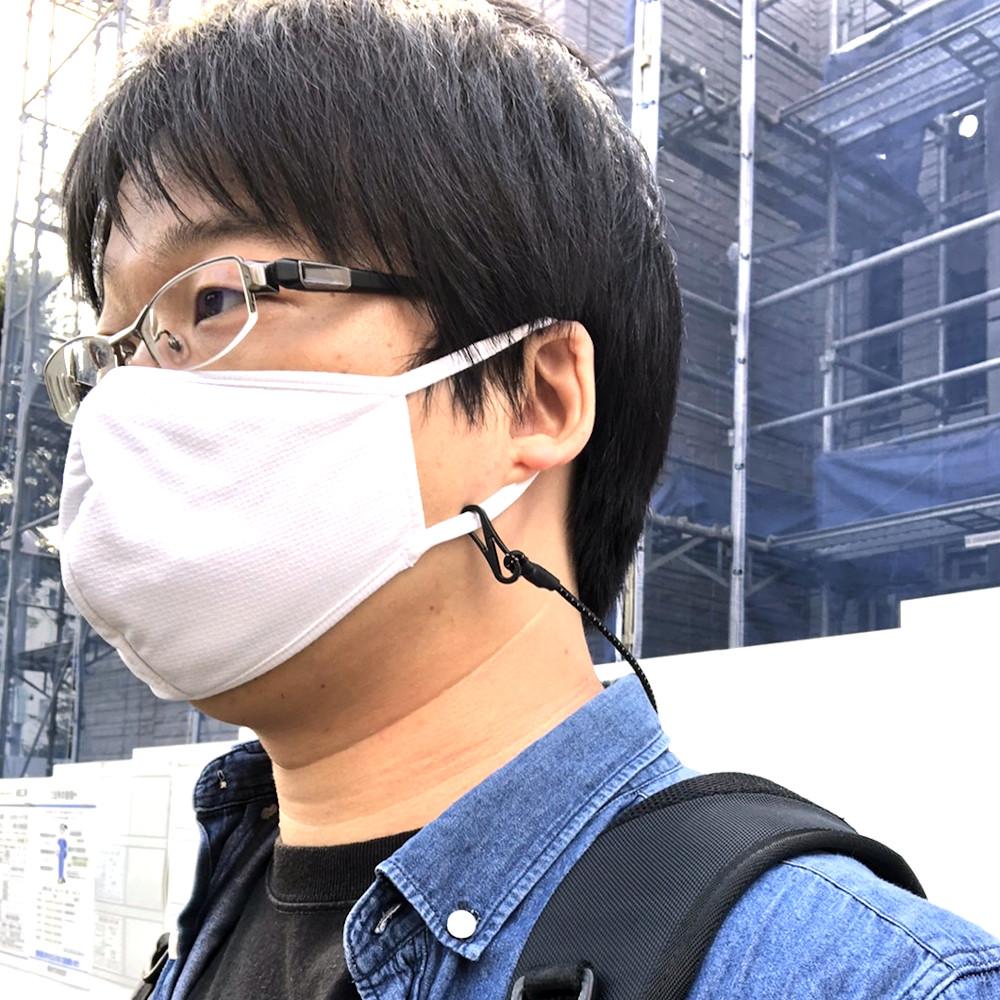 マスク用ネックストラップ クリップ付