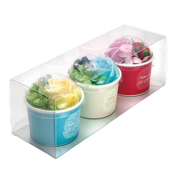 アイスカップ3色セット イエロー/ブルー/ライトピンク