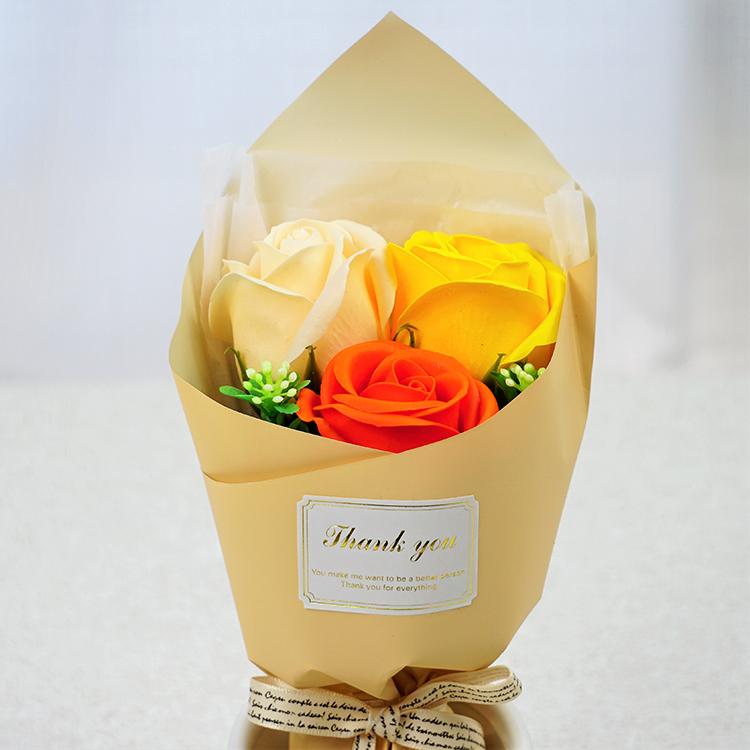 フェアリー3輪ブーケ ●BOX入り オレンジ