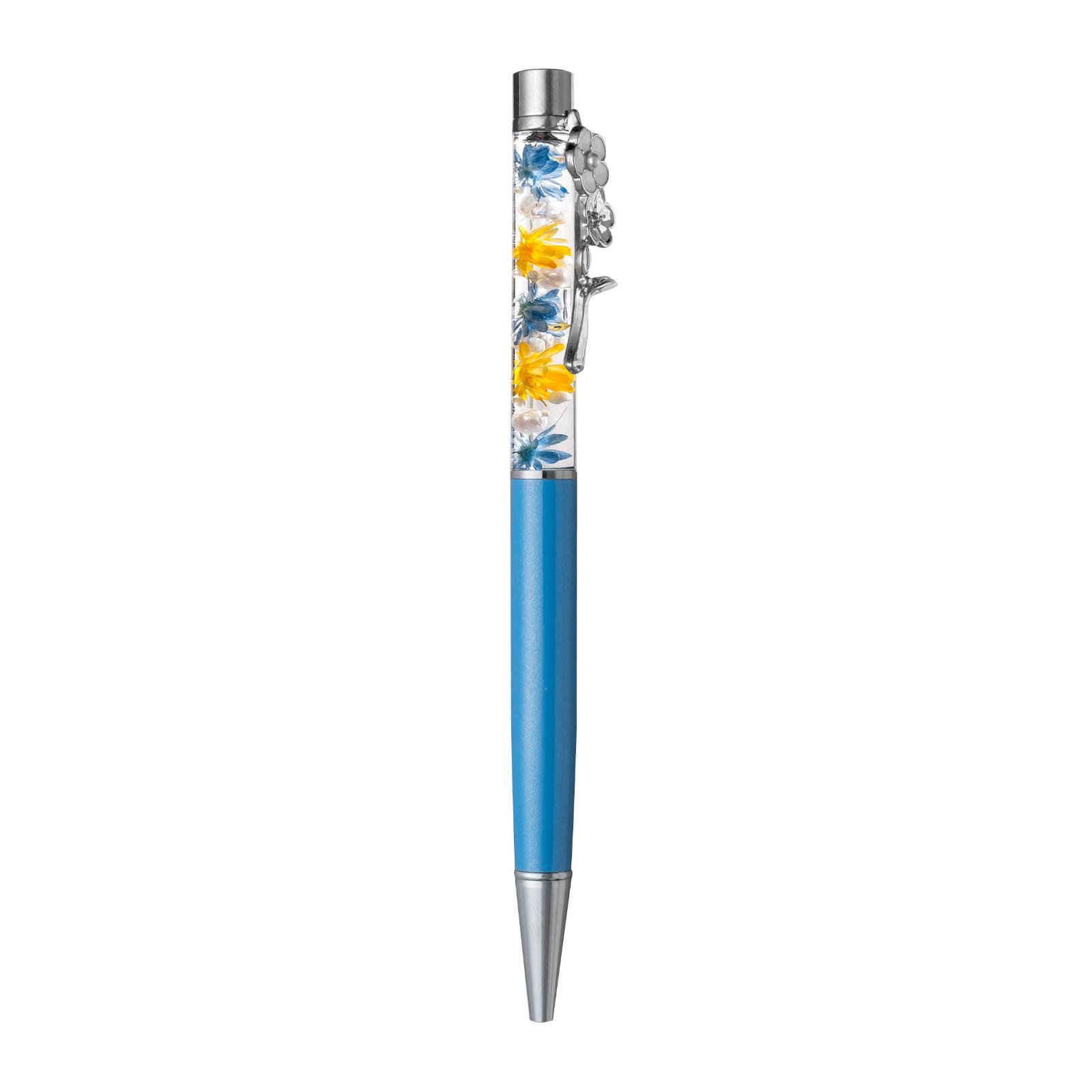 ハーバリウムアレンジ ボールペン  シャーロット シルバー シルバー/ブルー