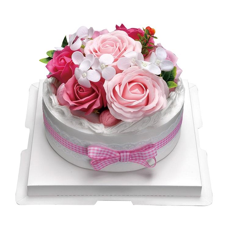 フラワーデコレーションケーキ ピンク