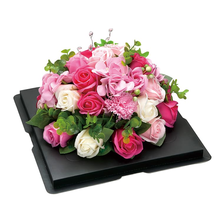 ガトーフロール ●Lサイズ ブラックベース(台座黒) ピンク