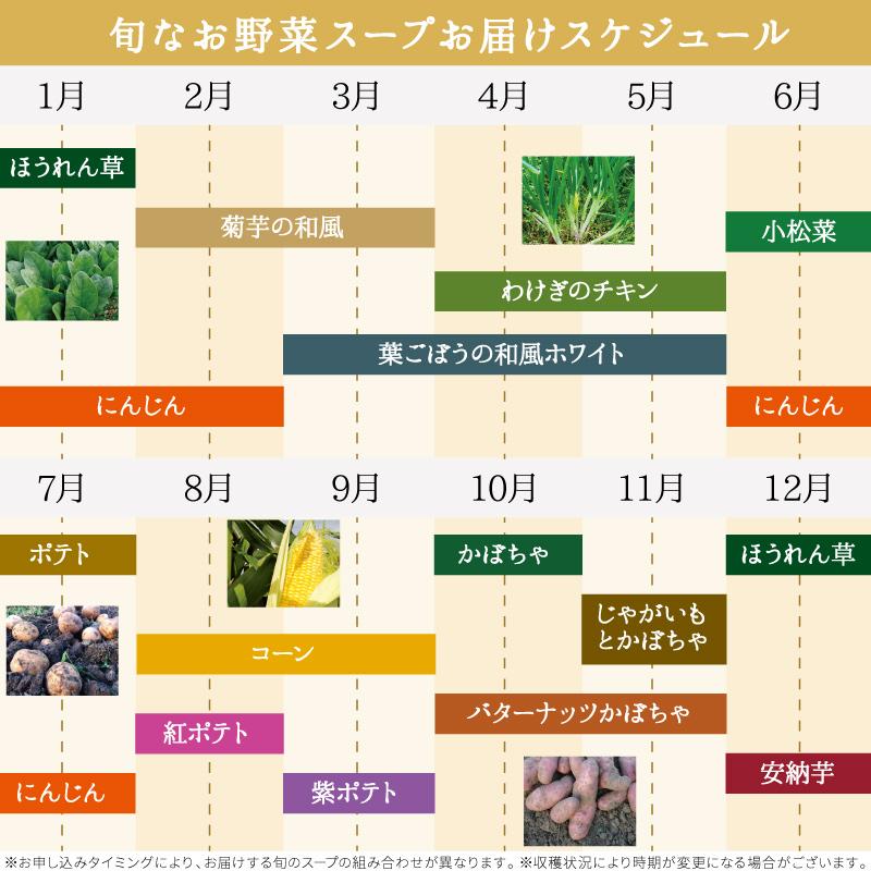 お野菜を食べるスープ 旬なスープの会 5袋セット(全6回) 【送料込】【分割払い】