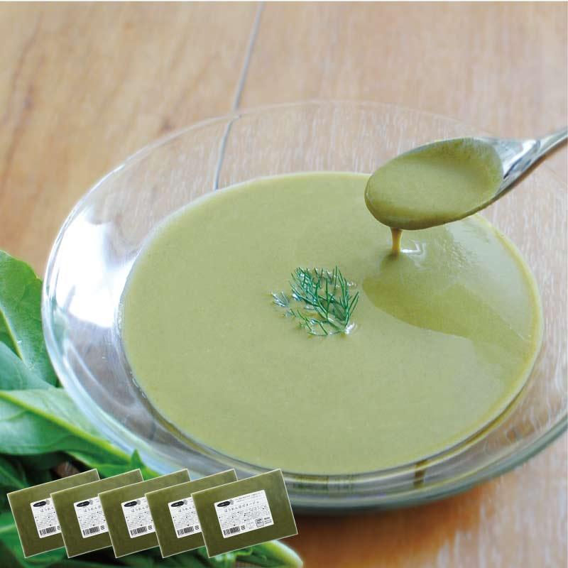 お野菜を食べるスープ ほうれん草ポタージュ 5袋セット