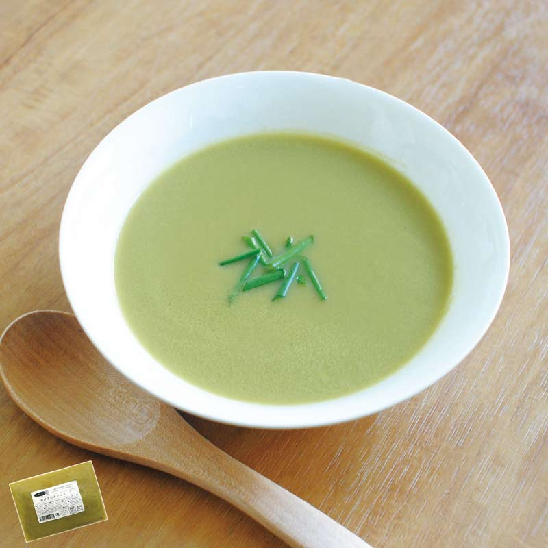 お野菜を食べるスープ わけぎのチキンスープ