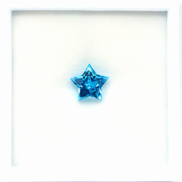 天然トパーズ 10mm  【スター】 スイスブルー ワンランクアップの輝き