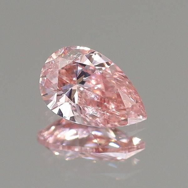 天然ダイヤモンド 0.157ct 【FANCY INTENSE PINK】中宝研鑑別付◇CM