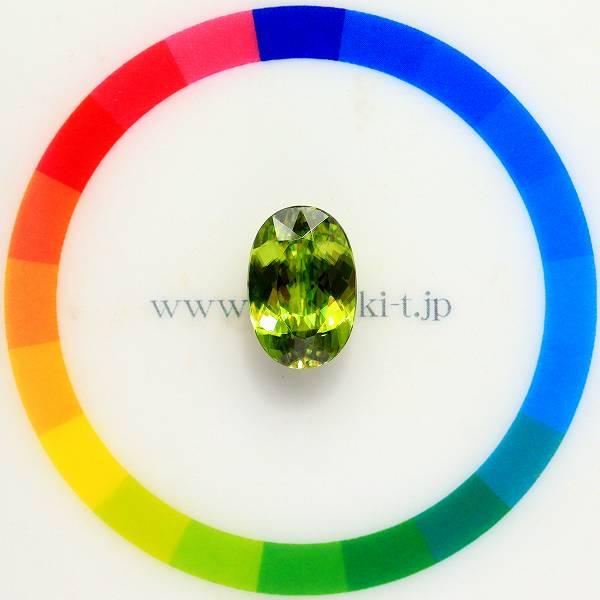 天然スフェーン 4.41ct 【Beautiful Green】 マダガスカル