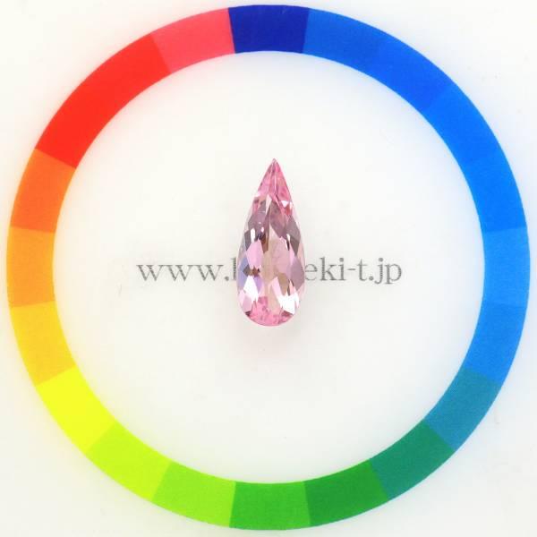 天然モルガナイト 2.11ct 【美発色】 シャープなペアシェイプ