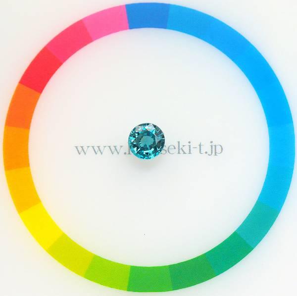 天然ジルコン 1.42ct 【煌めくブルー】 ラウンド