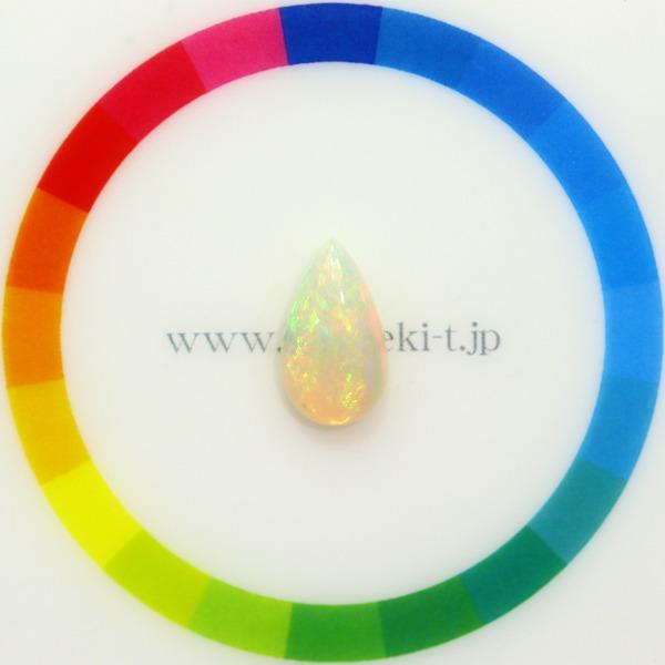 天然オパール 2.06ct 【エチオピア】 グリーン&オレンジ◇コレマ品