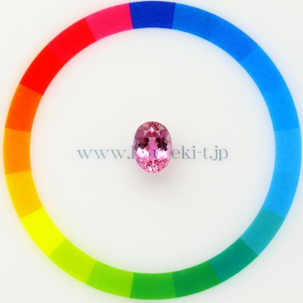 天然インペリアルトパーズ 1.65ct 【非加熱◆シェリーピンク】 絶賛カラー