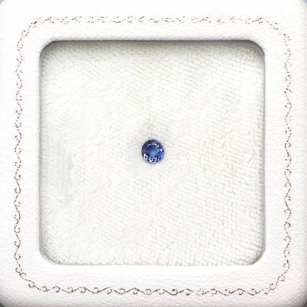 天然ベニトアイト 0.28ct 【輝くブルー】 ラウンド ◇コレマ品
