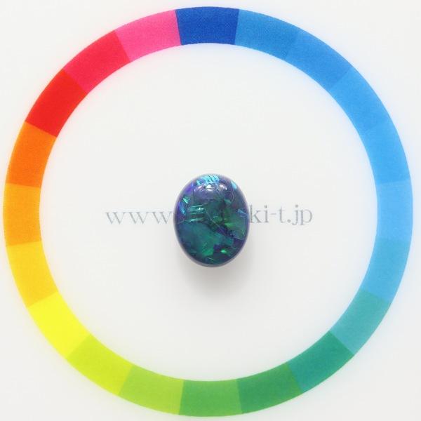 天然ブラックオパール 2.98ct 【ブルー】 ライトニングリッジ