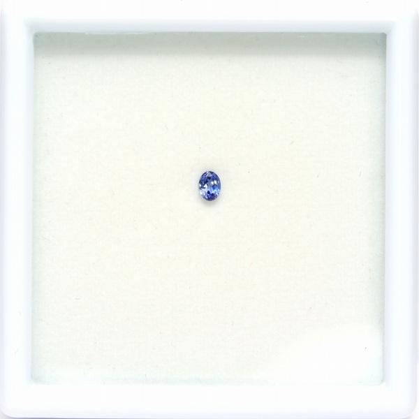 天然ベニトアイト 0.15ct 【煌くブルー】 オーバル
