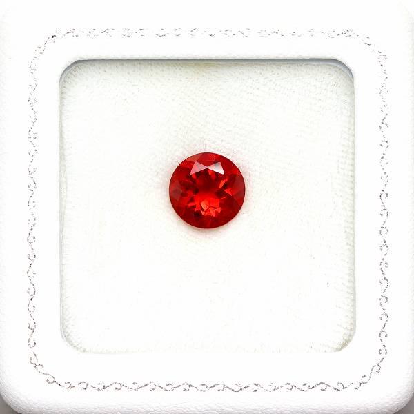 天然アンデシン 3.19ct 【美色レッド】 10mmラウンド