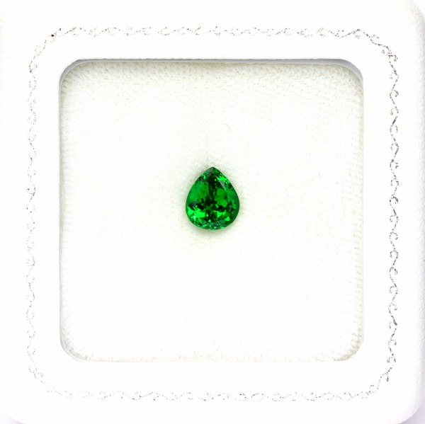 天然ツァボライトガーネット 1.95ct 【Neon Green】 タンザニア 日独ミニ鑑別付