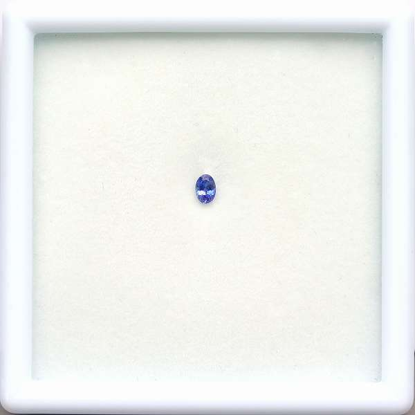 天然ベニトアイト 0.10ct 【輝くブルー】 オーバル