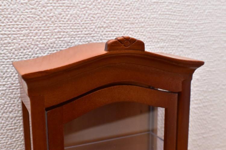 ミニチュア家具 ディスプレイキャビネット ウォールナット [SADF1210] [m-s]【 ネコポス不可 】