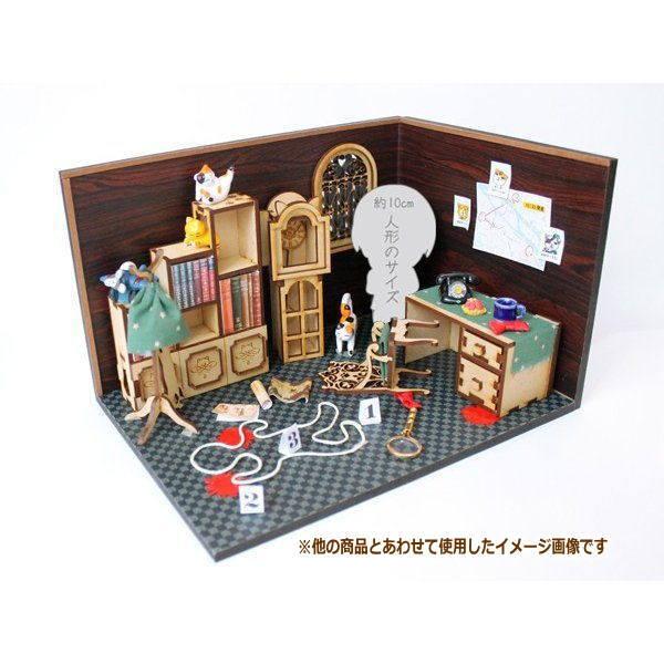 猫のミニチュア 机 1/12スケール 完成品 ドールハウス [m-s]【 ネコポス不可 】【C】