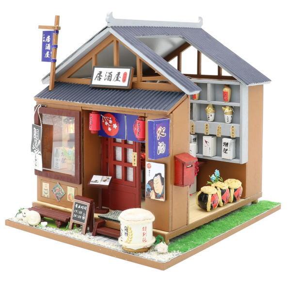 ミニチュアキット とある居酒屋 [M037Z] ドールハウス 組み立てDIYキット(パーツは塗装済み) [m-s]【 ネコポス不可 】