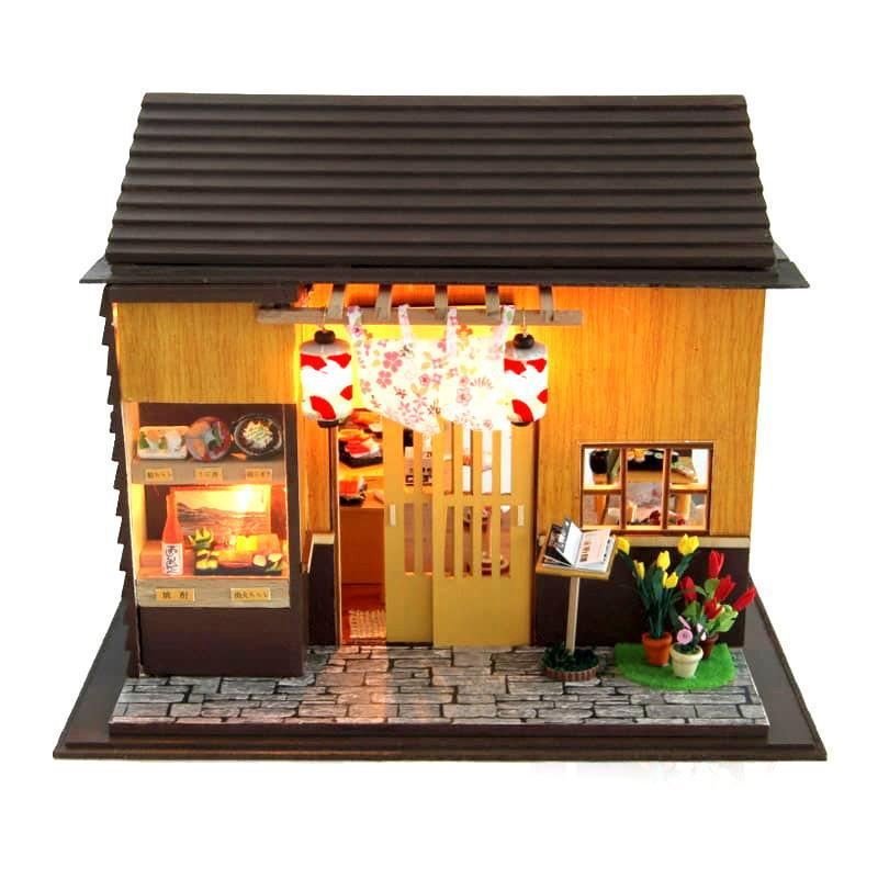 ミニチュアキット 桜寿司 [13827] ドールハウス 組み立てDIYキット(パーツは塗装済み) [m-s]【 ネコポス不可 】