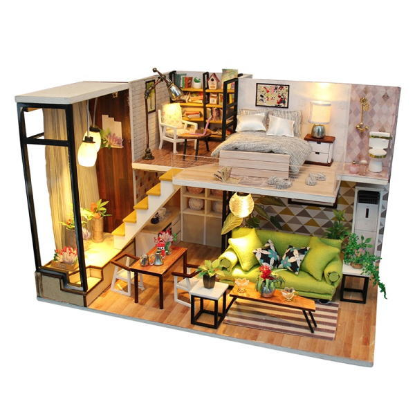 ミニチュアキット 北欧の家 [M030Z] ドールハウス 組み立てDIYキット(パーツは塗装済み) [m-s]【 ネコポス不可 】
