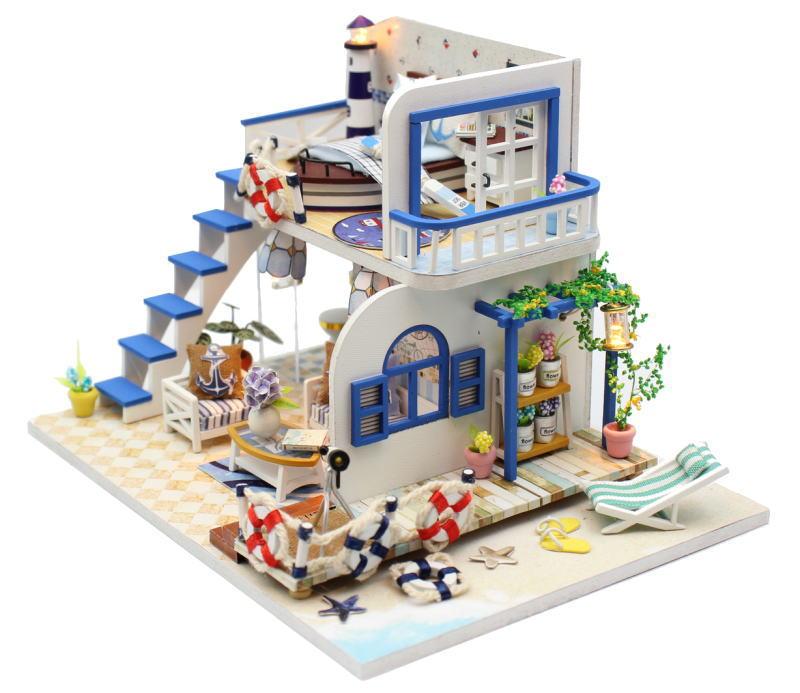 ミニチュアキット ブルーコースト [M032Z] ドールハウス 組み立てDIYキット(パーツは塗装済み) [m-s]【 ネコポス不可 】