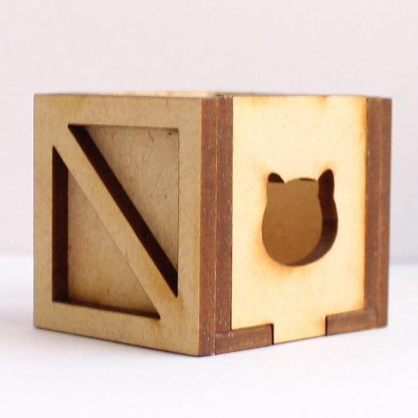 猫のミニチュア よくある木箱 1/12スケール 完成品 ドールハウス [m-s]【 ネコポス不可 】【C】