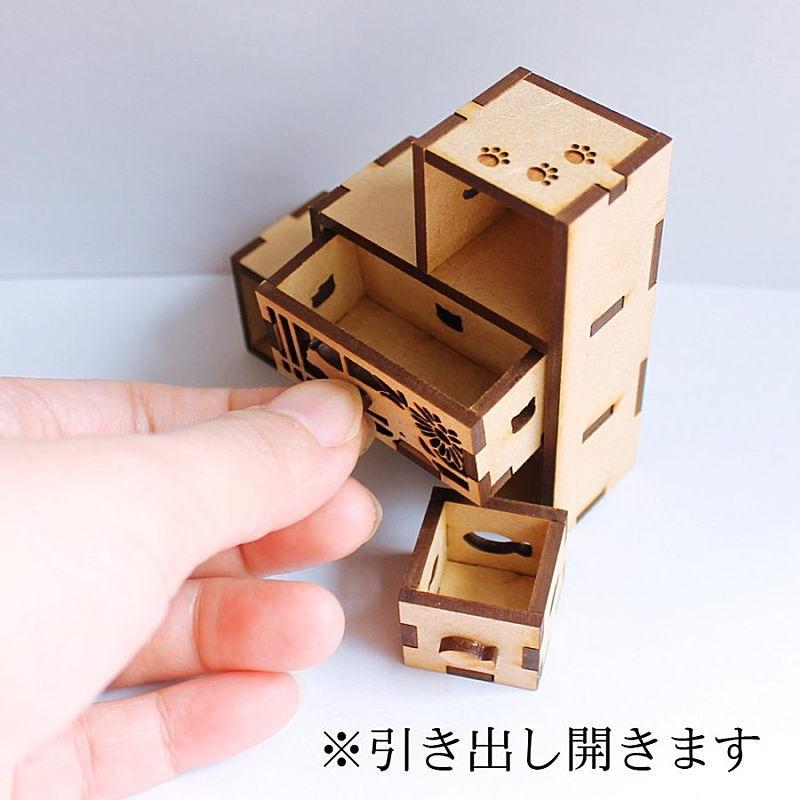猫のミニチュア 和段だにゃ 1/12スケール 完成品 ドールハウス [m-s]【 ネコポス不可 】【C】