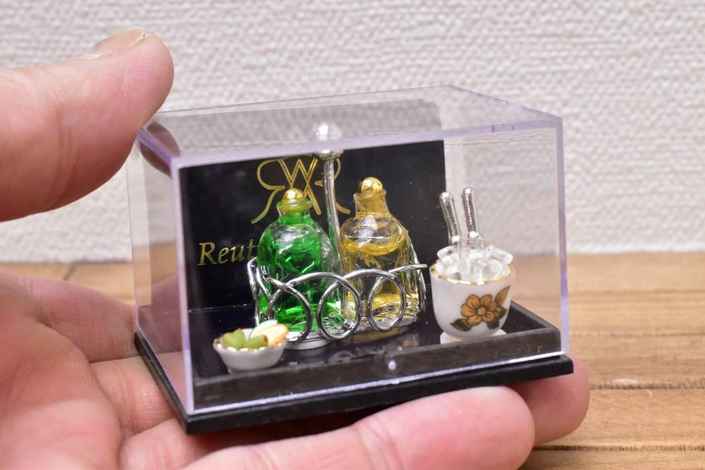 【Reutter】ロイターポーセリン ミニチュア雑貨 ダブルウイスキーセット [RP1613-5] [m-s]【 ネコポス不可 】