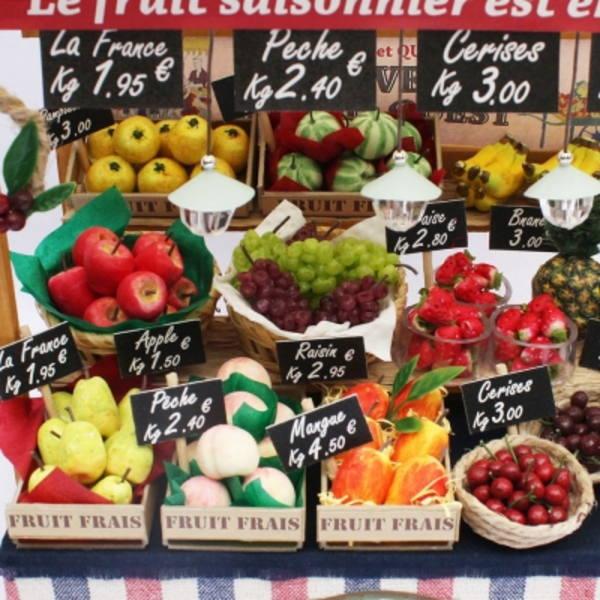 【ミニチュアキット】 パリのマルシェキット / パリの果物屋さん [8843] [m-s]【 ネコポス不可 】