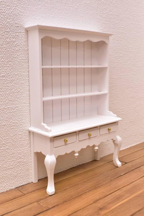 ミニチュア家具 クィーン アン ドレッサー ホワイト [SADF1497] [m-s]【 ネコポス不可 】