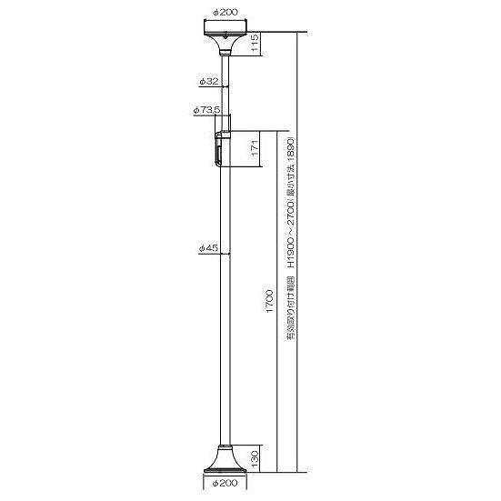 ベスポジ-e 基本セット 天井丸型ベース BPE-100-11<DIPPERホクメイ>