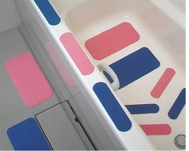お風呂ピタットシート【ブルー】(2号サイズ、4枚入) <ケアメディックス>
